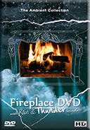 Fireplace Dvd With Rain and Thunder Sounds